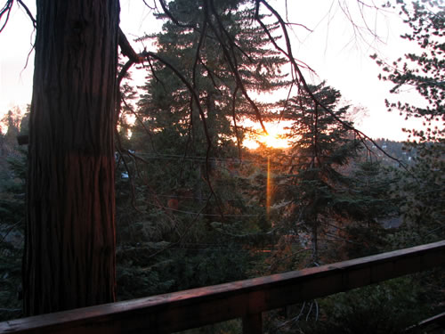 October Sunset in Lake Arrowhead