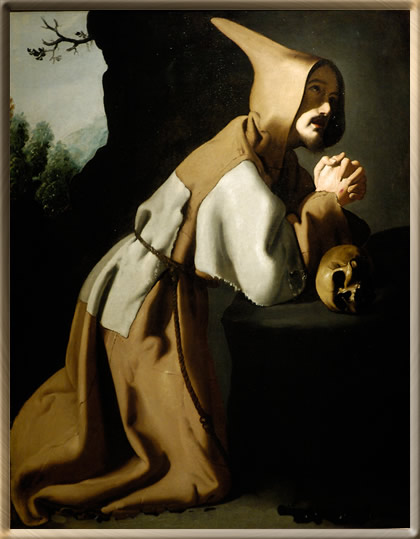 Saint Francis in Prayer by Zurbaran