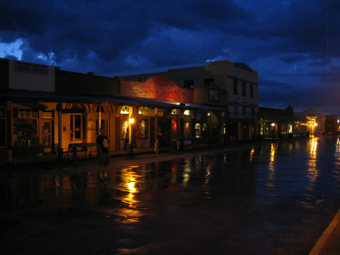 Tombstone at Night